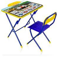 Комплект детской складной мебели с рисунком стол со стулом и пеналом КПУ2