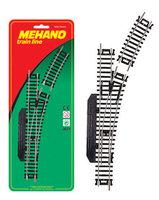 """Стрелка правая (ручное переключение) для железной дороги """"Mehano"""" (F283)"""