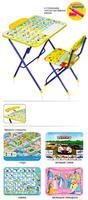 Комплект детской складной мебели стол с мягким стулом и пеналом КУ2 (в ассорт.)