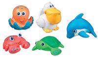 """Дет. игрушка для ванной """"Морские животные"""" (5 штук)"""