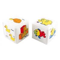 Мягкий кубик-погремушка