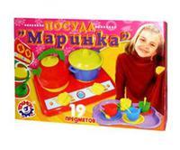 """Детский игрушечный набор посуды """"Маринка"""" (в коробке)"""