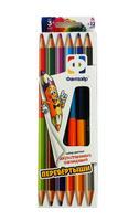 """Цветные карандаши """"Перевертыши"""" (6 штук, 12 цв.)"""
