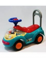 Дет. машина-каталка для детей со световыми и звуковыми эффектами Bugati голубая
