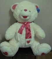 Мягкий игрушечный мишка в розовом шарфике (110 см)