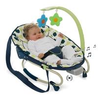 Детский шезлонг Leisure e-motion с музыкальной системой (цвет bear)