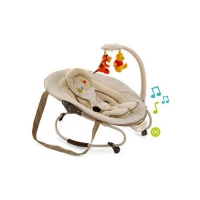 Шезлонг детский Leisure e-motion с музыкальной системой (цвет Pooh Dooble brown)
