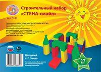 """Детский строительный набор """"Стена-смайл"""" (27 эл.)"""