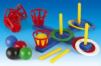 Детский кольцеброс с корзиной и мячами