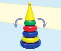 """Дет. пирамида-качалка """"Квадрат"""" (конус)"""