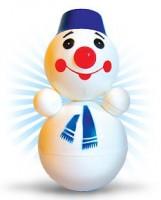 """Дет. музыкальная игрушка-неваляшка """"Снеговик"""" 22 см"""