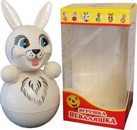 """Дет. музыкальная игрушка-неваляшка """"Заяц"""" 23 см"""