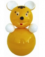 """Дет. музыкальная игрушка-неваляшка """"Мышка"""" 22 см"""