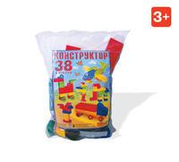 Детский Конструктор детский блочный № 1 38дет. в пакете