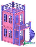Домик для кукол «Замок Принцессы», 2 эт.а (розовый)