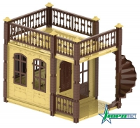 Домик для кукол «Замок Принцессы», 1 эт. (бежевый)