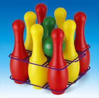 Набор детский для игры в  боулинг (кегли большие, 9 штук)
