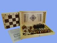"""Игра """"4 в 1: нарды, шашки, шахматы, карты"""""""