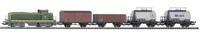 Набор стартовый «SNCF BB 63000» с 4-мя различными груз. вагонами, аналоговый, Piko 1:87 (57162)