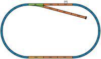 Набор стартовый «Пожарный поезд», аналоговый, Piko 1:87 (57153)