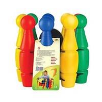 Набор детский для игры в  боулинг (кегли большие, 9+1 штук)