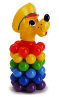 Дет. Пирамида Волк мини с шариками (Росигрушка)