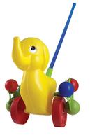 Дет. Дет. каталка Слоник  на палочке (Росигрушка)