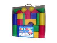 Детский пластмас. строительный набор Теремок 27 элементов в пакете