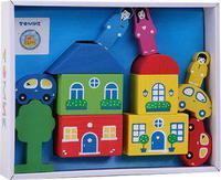 Конструктор детский цветной городок 14 дет.