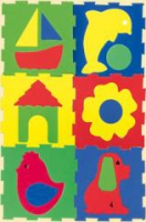 Конструктор мягкий - Кубик с силуэтами 12х12 (по 6 штук)