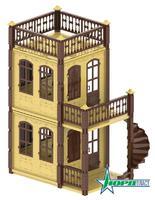 Домик для кукол «Замок Принцессы», 2 эт.а (бежевый)