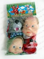 """Малый кукольный театр """"Волк и Лиса"""" (4 персонажа)"""
