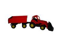 """Детский игрушечный трактор """"Крепыш"""" с прицепом №1 и ковшом"""