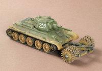 """Модели танков для склеивания """"Т-34/76"""" с минным тралом"""