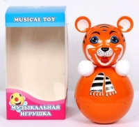 """Дет. музыкальная игрушка-неваляшка """"Тигр"""" 22 см"""