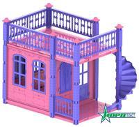 Домик для кукол «Замок Принцессы», 1 эт. (розовый)