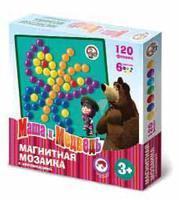 Магнитная мозаика с аппликациями Маша и Медведь