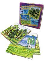 """Деревянные пазлы """"Поле и лес"""""""