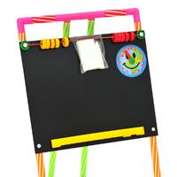 Дет. доска для рисования на стойках с часами