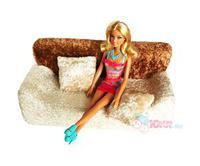 Мягкая мебель для кукол: диван и 2 подушки (в  пакете)
