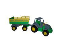 """Детский игрушечный трактор """"Крепыш"""" с прицепом №2"""