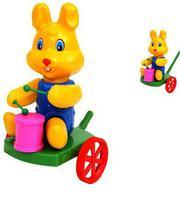 """Дет. каталка с ручкой """"Кролик с барабаном"""""""