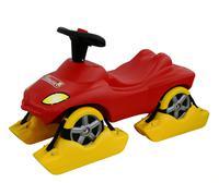 """Детский снегоход каталка-автомобиль """"Пожарная команда"""" со звуковым сигналом"""