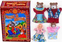 """Малый кукольный театр """"Три Медведя"""" (4 персонажа)"""