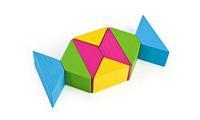 """Конструктор детский """"Цветные треугольники"""" 16 дет."""
