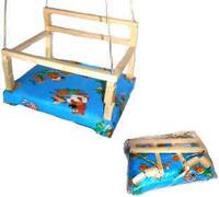 Качели деревянные №2 мягкое сиденье