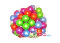 Шарики для сухого бассейна (100 шт в сетке) диаметр 6 см и 8 см