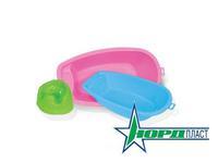 Кукольная ванна большая (розовая)