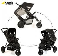 Дет. коляска для двоих детей Freerider SH-12 (цвет black)