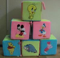 Игрушечные мягкие кубики (маленькие)